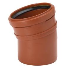 Uponor 110 mm 15 gr. PP-kloakbøjning