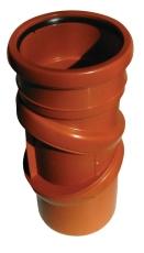 Jotiflex 110 mm drejelig PP-kloakbøjning med 1 muffe, trinlø