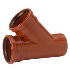 Uponor 110 x 110 mm 45 gr. PP-kloakgrenrør
