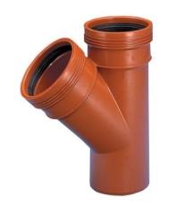 Wavin 160 x 160 mm 45 gr. PP-kloakgrenrør