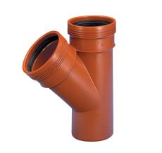 Wavin 200 x 200 mm 45 gr. PP-kloakgrenrør