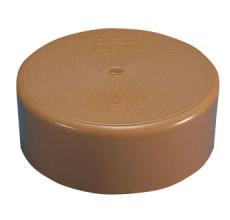 Wavin Rib/Rib2 200 mm PP-slutmuffe, uden gummiring