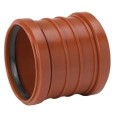 Uponor 160 mm PP-kloakdobbeltmuffe