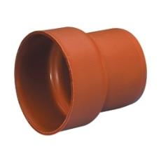 Wavin 110 mm PP-overgang til støbejernsspids, med gummiring
