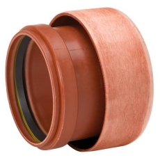 Uponor 110 mm PP-overgang til lermuffe, uden gummiring