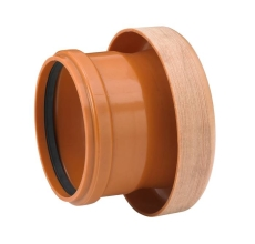 Uponor 160 mm PP-overgang til lermuffe, uden gummiring