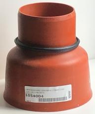 Uponor 110 mm PP-overg. t/beton- og lerspids, m/gummiring, l