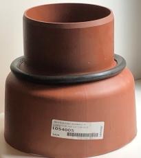 Uponor 160 mm PP-overg. t/beton- og lerspids, m/gummiring, l