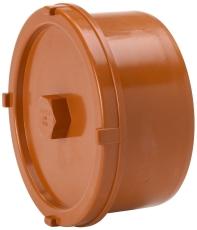 Uponor 160 mm PVC-kloakrensedæksel med spidsende