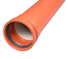 Wavin 110 x 2000 mm PP-kloakrør m/muffe, klasse N SN4, EN 13