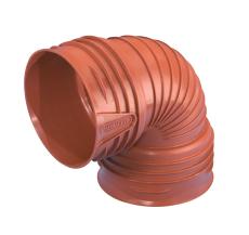 Wavin Rib/Rib2 200 mm 90 gr. PP-bøjning, uden gummiringe