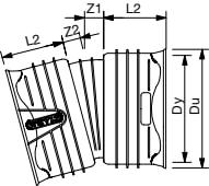 Wavin Rib/Rib2 200 mm 15 gr. PP-bøjning, uden gummiringe
