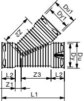 Wavin Rib/Rib2 200 mm 45 gr. PP-grenrør, uden gummiringe