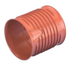 Wavin Rib/Rib2 200 mm PP-dobbeltmuffe, uden gummiringe
