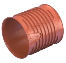 Wavin Rib/Rib2 315 mm PP-skydemuffe, uden gummiringe