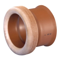 Wavin Opti/Ultra 200 mm PP-overg. t/betonmuffe, uden gummiri