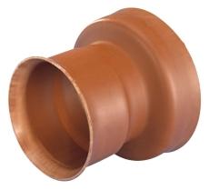 Wavin Rib/Rib2 200 mm PP-overg. t/betonspids, uden gummiring