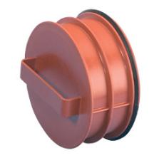 Wavin Rib/Rib2 200 mm PP-prop med gummiring