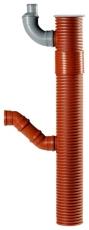 Uponor 200 x 110 mm PP-tagnedløbsbrønd med vandlås, drejelig