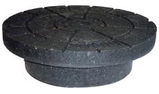 Lauridsen 425 mm dæksel t/kegle m/fals, PVC-genbrugsplast, 3