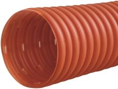 Wavin 60/50 mm PVC-drænrør med 1,5 x 5 mm slids, 50 m, brun