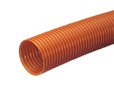 Wavin 126/113 mm PVC-drænrør med 1,5 x 5 mm slids, 50 m, bru