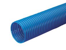 Wavin 126/113 mm PVC-drænrør med 2,5 x 5 mm slids, 50 m, blå