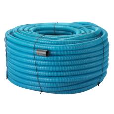 Uponor 160/145 mm PVC-drænrør med 2,3 x 7 mm slids, 50 m, bl