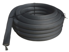 Uponor 160/145 mm PVC-drænrør med 2,3 x 7 mm slids og filt,
