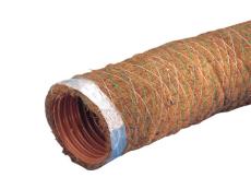 Wavin 126/113 mm PVC-drænrør med 1,5 x 5 mm slids og kokos,