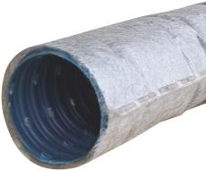 Wavin 60/50 mm PVC-drænrør med 2,5 x 5 mm slids og filt, 50