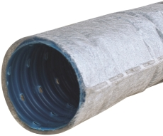 Wavin 75/65 mm PVC-drænrør med 2,5 x 5 mm slids og filt, 50