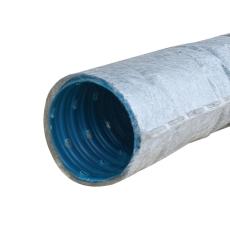 Wavin 75/65 mm PVC-drænrør med 2,5 x 5 mm slids og filt, 150