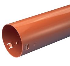 Wavin 126/113 x 1000 mm PVC-dræntilslutningsrør
