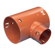 Wavin 75 x 60 mm 90 gr. PVC-drængrenrør