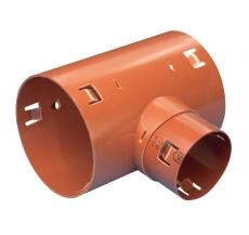 Wavin 92 x 60 mm 90 gr. PVC-drængrenrør