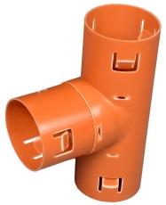 Wavin 126 x 126 mm 90 gr. PVC-drængrenrør
