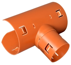 Wavin 92 x 92 mm 90 gr. PVC-drænsadelgren