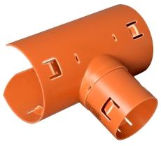 Wavin 126 x 92 mm 90 gr. PVC-drænsadelgren