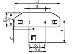 Wavin 126 x 126 mm 90 gr. PVC-drænsadelgren