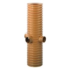 Wavin 315 x 1350 x 92/80 mm PVC-drænbrønd, 4 tilslutninger