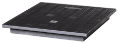 Uni-Seals 600 x 600 mm dæksel, 1,5 t, komposit, kabelbrønd