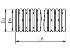 Wavin 160/145 mm PVC-drænrør med slids 2,5 x 5 mm og filt, 5