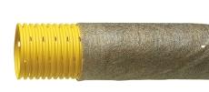 Eurodrain 50/42 mm PVC-drænrør m/1,2 x 5 mm slids og filt, 5