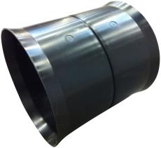 Eurodrain 125,5/115 mm PE/PP-drænsamlemuffe