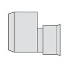 Eurodrain 100x80 mm PE/PP-drænreduktion