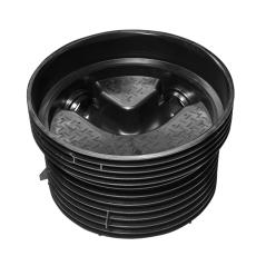 Wavin Tegra EUR 160 x 1000 mm TP1-brønd, glat, 90 gr. gennem