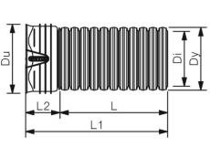X-Stream 225/195 x 6000 mm PP SN8 uslidset rør m/mf. u/gummi