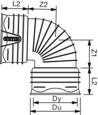X-Stream DN200 88 gr. PP-bøjning, uden gummiringe