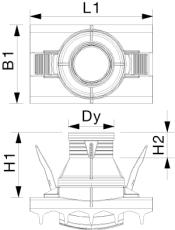 X-Stream DN600 x 160 mm PP-sadelgren til glat spids